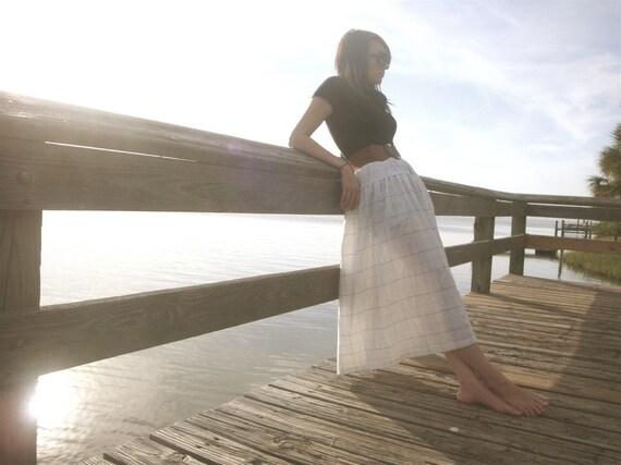 Off the grid long vintage skirt