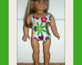Peace Signs Swimsuit for American Girl Dolls