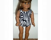 American Girl Doll Clothes Zebra Swimsuit American Girl Dolls