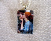 The Soul of the Rose-John William Waterhouse Fine Art Glass Pendant--Chain Included