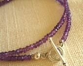 Sparkling Amethyst Gemstone Bracelet