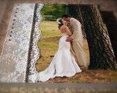 Custom Wedding Mixed Media Photo Canvas 8 x 10