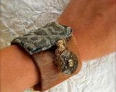 Vintage Style Fabric Cuff Bracelet