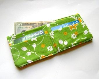 Spring Green Flowers Wallet
