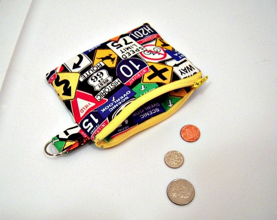 Road Signs Coin Purse