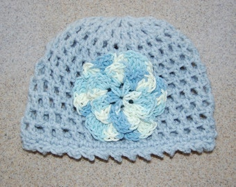 Toddler Girl Beanie Hat in Blue