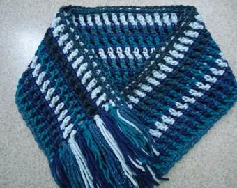 Crocheted Boho Style Scarf