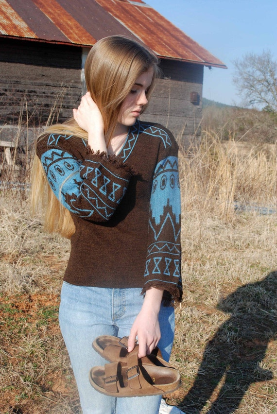 Bury My Heart \/ Vintage 1960's or 70's Sweater..........FREE SHIPPING