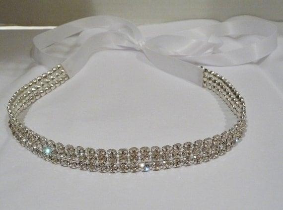 Bridal Rhinestone Headband, CAYLA, Bridal Headpiece, Rhinestone Headband