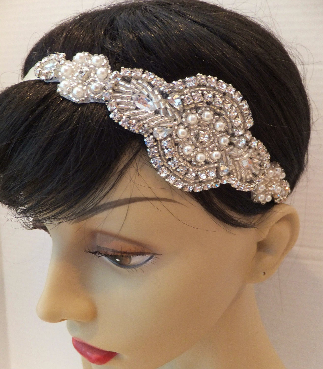 Wedding Rhinestone Headbands bridal headband great gatsby headpiece eden bridal