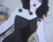 Mermaid Paper Doll 27 - Sultry Siren - RESERVED FOR SOPHIA H
