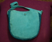 Turquoise Leather Hand Bag