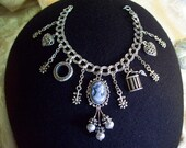 Sterling Silver Victorian Cameo Charm Bracelet