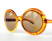 Jackie O Sunglasses Tortoiseshell Vintage Bug Eyes Made in Italy
