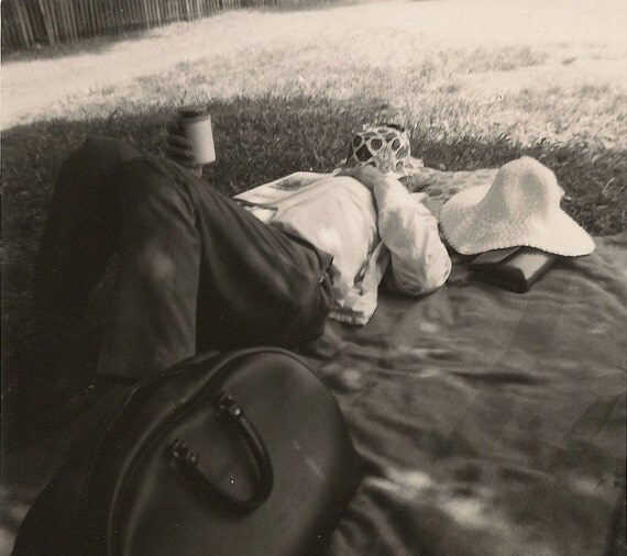Black and White Vintage Snapshot Doctor Napping