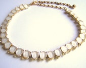 Vintage 1950s Signed BSK Thermoset Rhinestone Choker Necklace