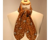 Velvet Scarf / Ascot with little birds by Leander and Swann