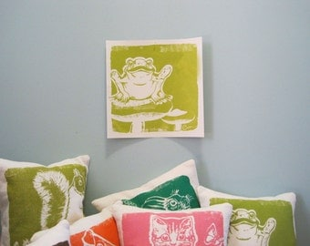 Wall Art, FROGGIE Poster Silk Screened on French Paper
