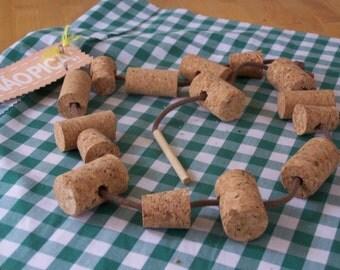 Cork lacing set, eco friendly children game made of Portguese cork