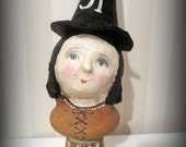 Witch-Halloween-Art doll-papier mache-OOAK-handmade