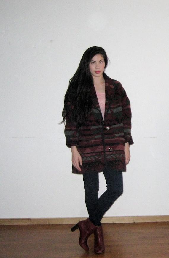 Vintage Southwestern Blanket Coat
