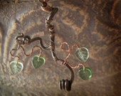 Grapevine Tendril Necklace Green and Copper