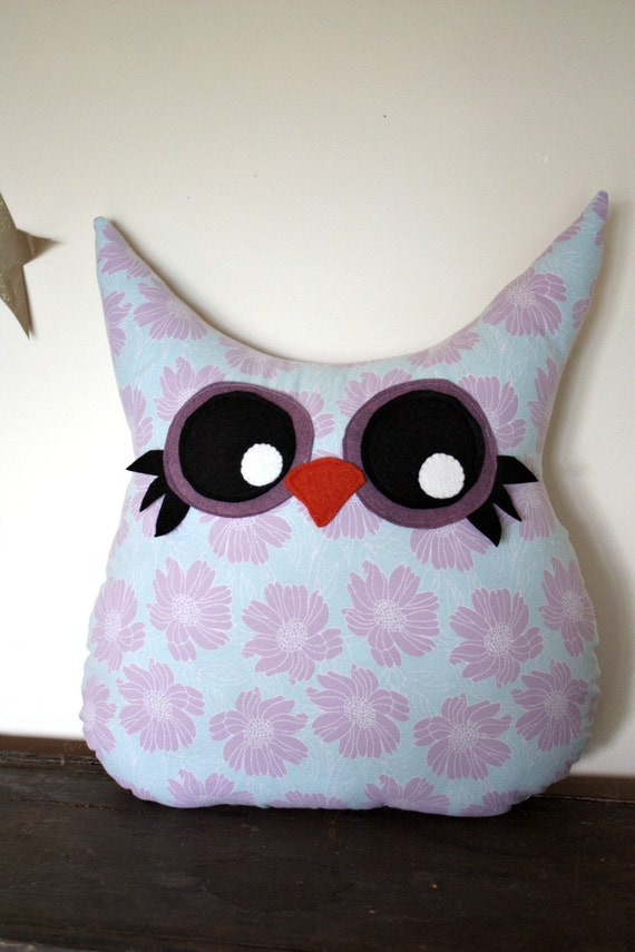 SALE, owl pillow plush, owl decor, stuffed owl