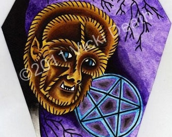 The Wolf Man Original Coffin Painting