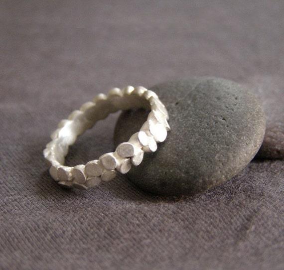 Silver Mosaic Ring Slender