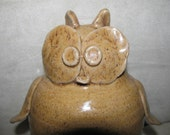 Large Beige Owl Bank