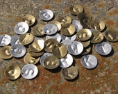 Letter Charm (Gold, Silver, or Copper) 12mm round disc