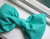 RESERVED for corinnemaloney. mermaid tail turquoise big bow hair clip.