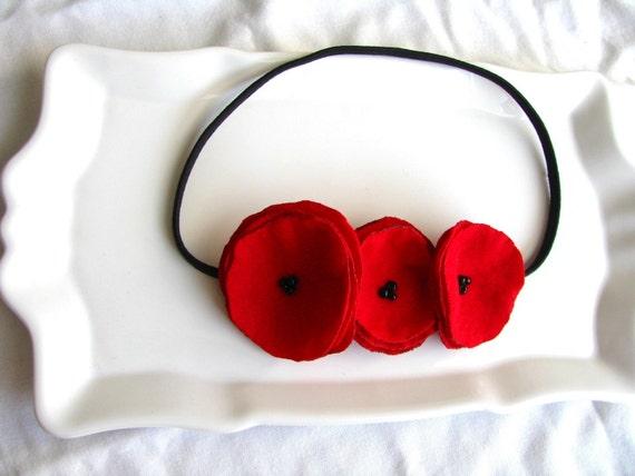 crushing on you poppy garland headband.