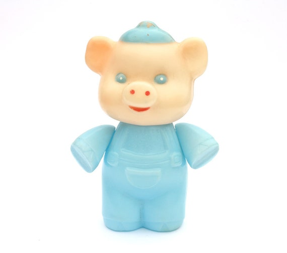 Vintage plastic toy - piglet