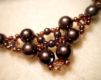 Autumn Colors Pearl Necklace