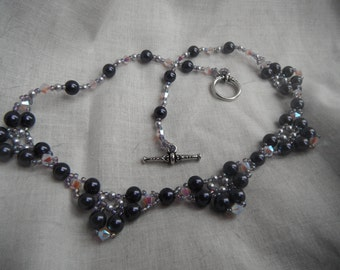 Pearl Necklace - Plum Purple