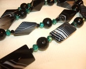 Black Striped Agate Necklace