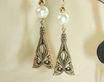 Victorian Pearl Earrings