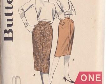Misses Skirt Pattern - Vintage Butterick Pattern Number 9477 - One Yard Line - Wiggle Skirt - Waist Size 25 - 1950s Sheath Skirt - Uncut