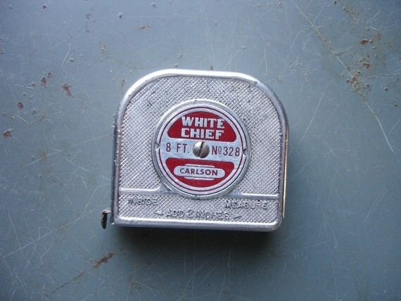 RESERVED vintage carlson measuring tape