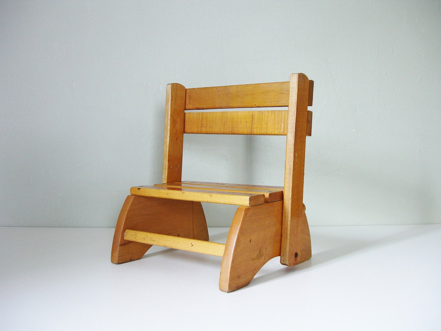 Vintage Child S Step Stool Chair