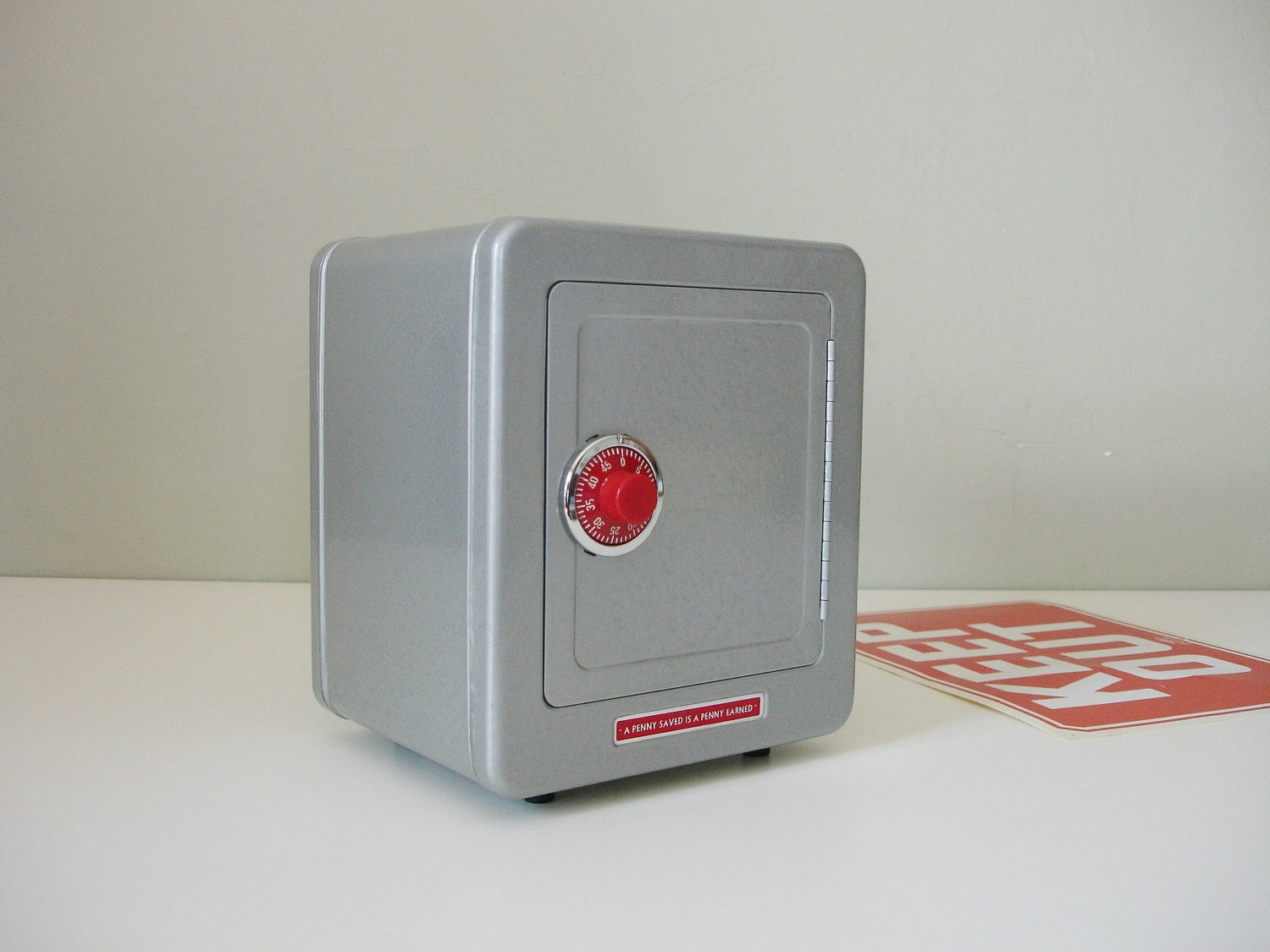 Toy Safe With Red Combination Lock