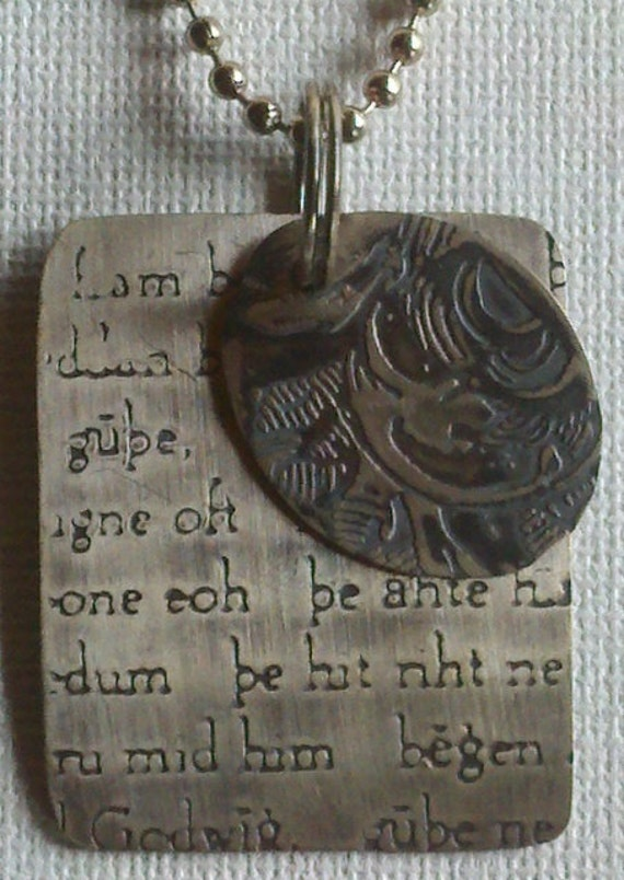 Beowulf Sterling Dog Tags