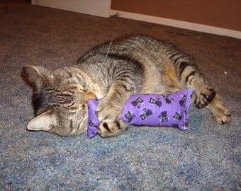 Catnip Body Pillow- Black and Purple Cats