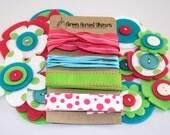 Bloom Bundle in Gumdrop (Value Pack - Felt Flower Embellishments and Ribbon)