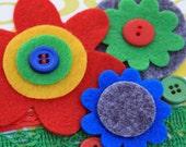 School Rules Embellishment Kit (6 felt flowers, 3 yards of ribbon/trim, 10 buttons)