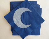 Crescent Moon Paper Cocktail/ Luncheon/ Dinner Napkins