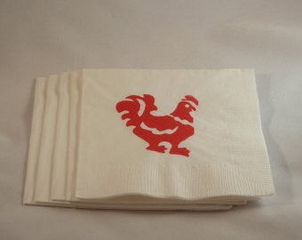 Red Rooster Paper Cocktal/ Luncheon/ Dinner Napkins
