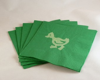 Green and Yellow Duck Paper Cocktail /Luncheon /Beverage Napkins