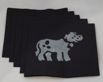 Black and White Cow Paper Cocktail/ Luncheon/ Dinner Napkins